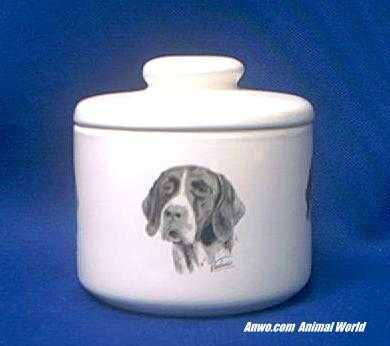 german shorthair pointer jar porcelain