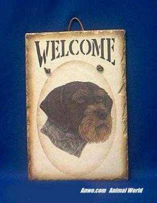 german wirehair pointer welcome sign