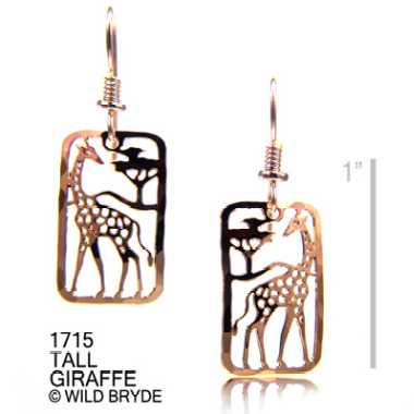 giraffe earrings gold french curve