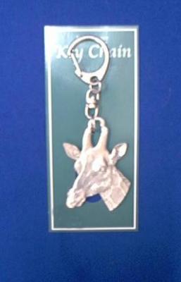 giraffe keychain pewter