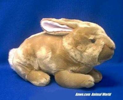 gold rabbit plush stuffed animal classic