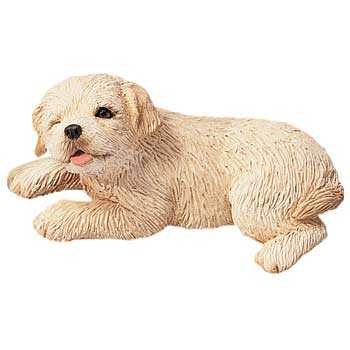 golden retriever figurine sandicast sp034