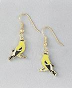 goldfinch bird jewelry earrings