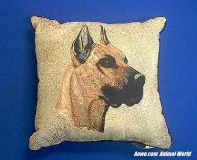great dane pillow throw