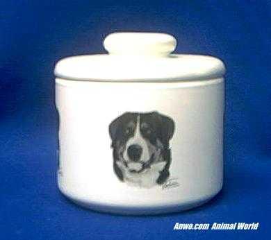 greater swiss mountain dog jar porcelain
