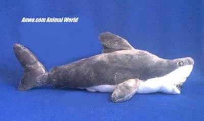 great white shark plush stuffed animal toy petting zoo