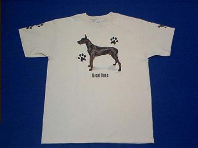 black great dane t shirt