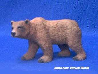 grizzly bear figurine statue