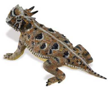 horned lizard toy miniature replica