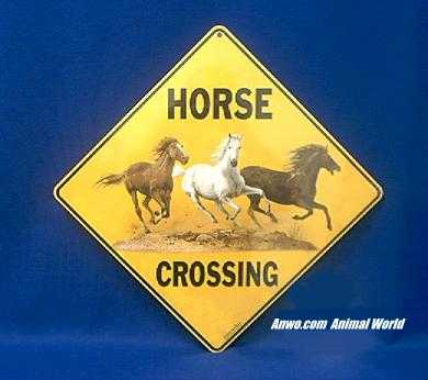 horse crossing sign color