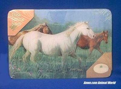 horse cutting board glass