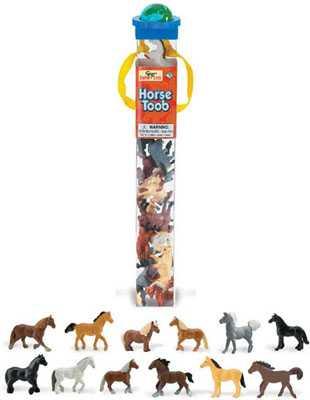 horse toy tube assortment