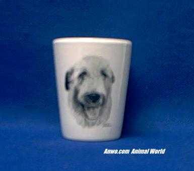 irish wolfhound shot glass