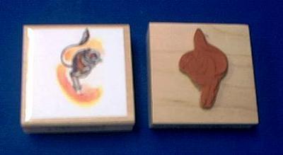 kangaroo rat rubber stamp