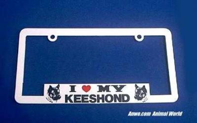 keeshond license plate frame