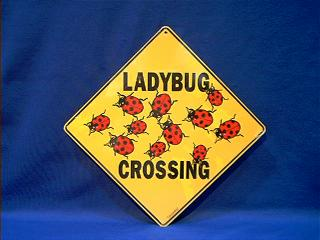 ladybug crossing sign