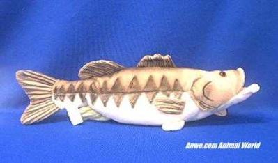 large mouth bass plush stuffed toy