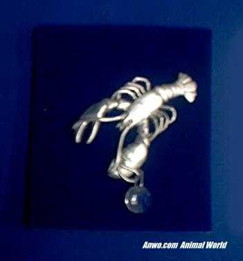 lobster suncatcher pewter