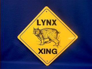 lynx crossing sign