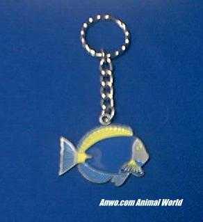 marine fish keychain pewter