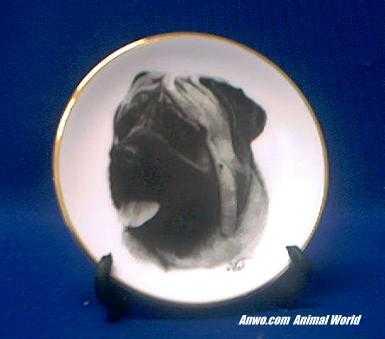 mastiff plate porcelain