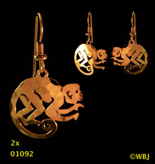 monkey earrings