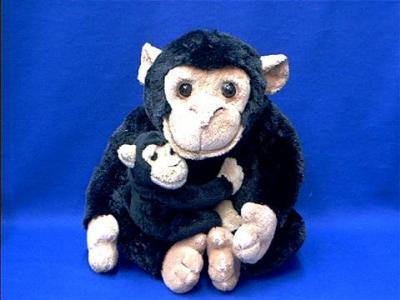 monkey stuffed animal plush adult with baby