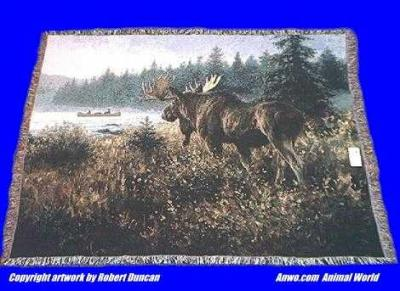 moose blanket throw tapestry pure country