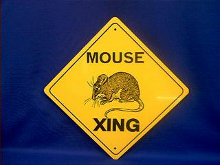 mouse crossing sign