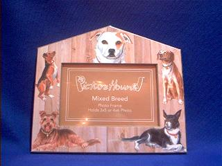 mutt dog picture frame