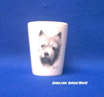 norwich terrier shot glass