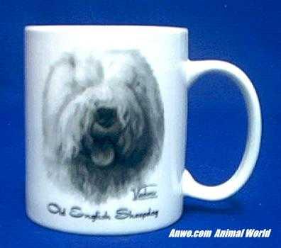 old english sheepdog mug porcelain