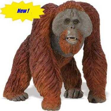 orangutan toy miniature wildlife wonders