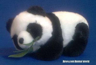 panda bear plush toy stuffed animal bamboo
