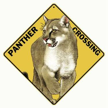 panther crossing sign anwo animal world