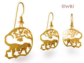 panther leopard earrings