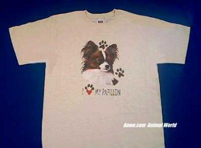papillon t shirt face love