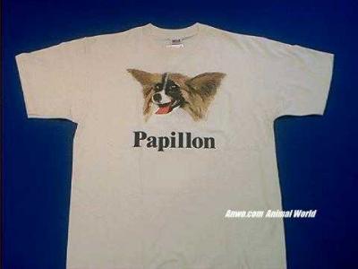 papillon t shirt face