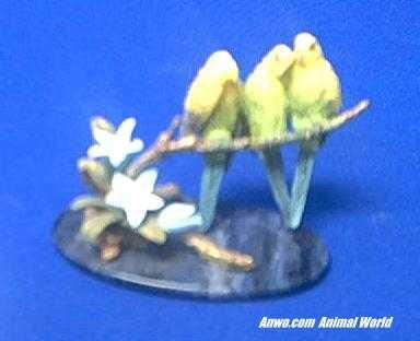 parakeet figurine budgerigar