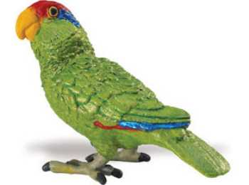 parrot toy green parrot miniature replica