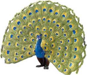 peacock toy miniature replica