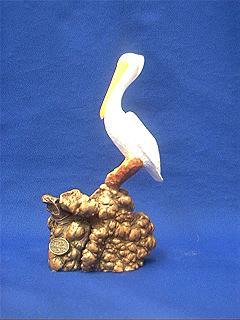 white pelican figurine