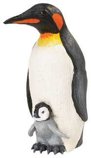 penguin with baby toy