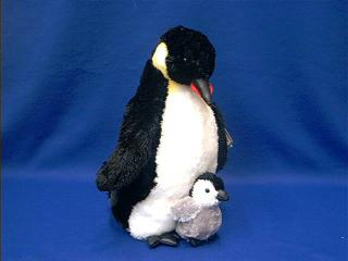 penguin with baby plush stuffed animal