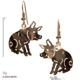 pig earrings gold jewelry french curve