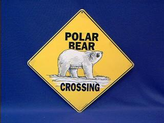 polar bear crossing sign