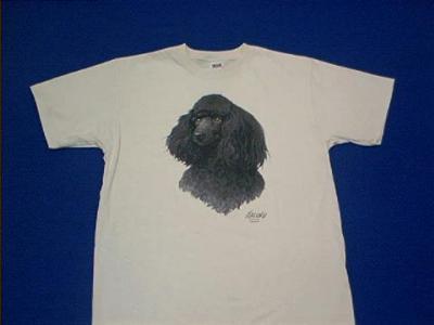poodle black t shirt