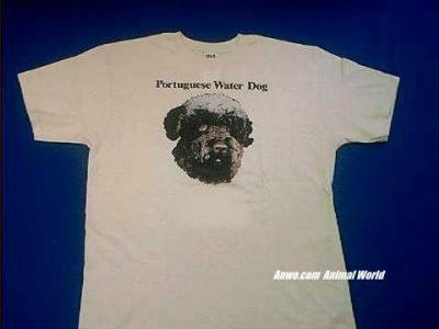 portuguese water dog t shirt face
