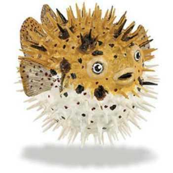 Pufferfish toy miniature replica at animal world for Mini puffer fish