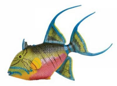queen triggerfish toy miniature replica
